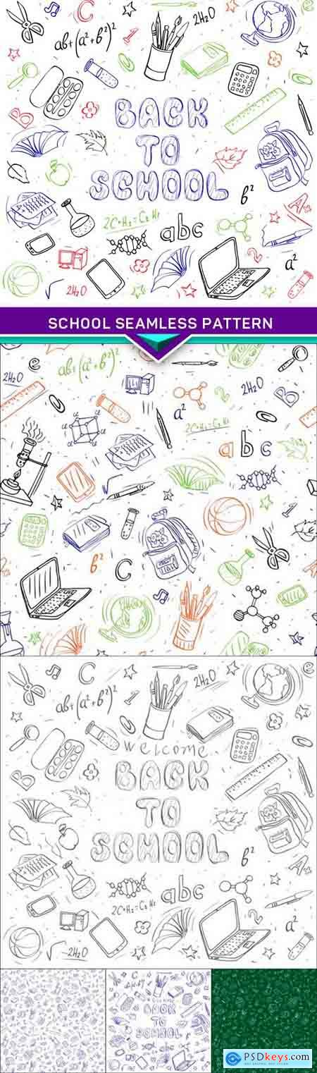 School seamless pattern 6X EPS