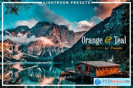 Thehungryjpeg 30 Orange & Teal Lightroom Presets