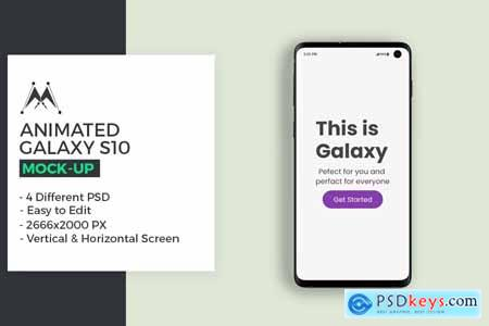 Creativemarket Animated Galaxy S10 Mockup