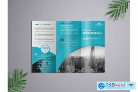 Thehungryjpeg Corporate Trifold Brochure template