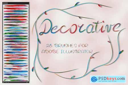 Creativemarket Decorative Brushes for Illustrator
