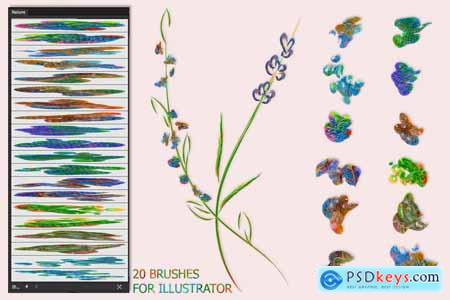 Creativemarket Nature Brushes for Illustrator