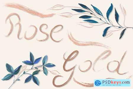 Creativemarket Rose Gold Brushes for Illustrator