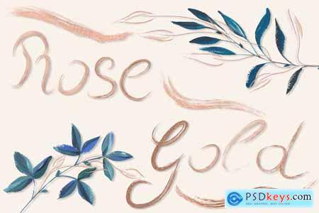 Creativemarket Rose Gold Brushes for Illustrator