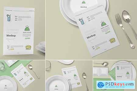 Restaurant Menu Card Mockups