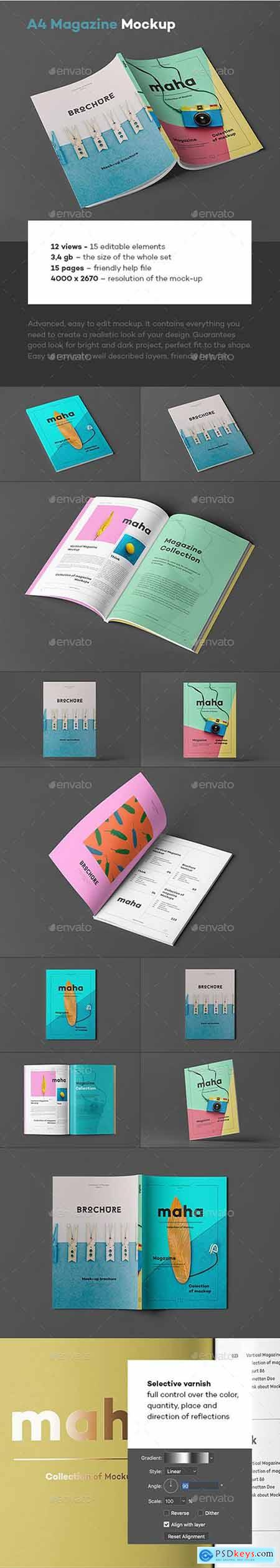 Graphicriver A4 Magazine Mock-up 4