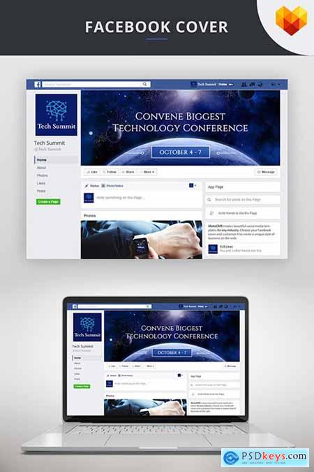 Conference Editable Timeline Cover For Facebook Social Media