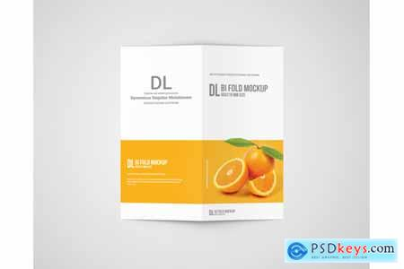 Thehungryjpeg Dl Bi-Fold Brochure Mockup
