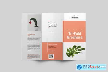 Thehungryjpeg Minimal Multipurpose Tri-Fold Brochure 3543456