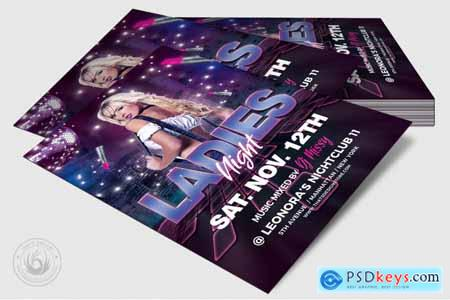 Thehungryjpeg Urban Ladies Night Flyer Template