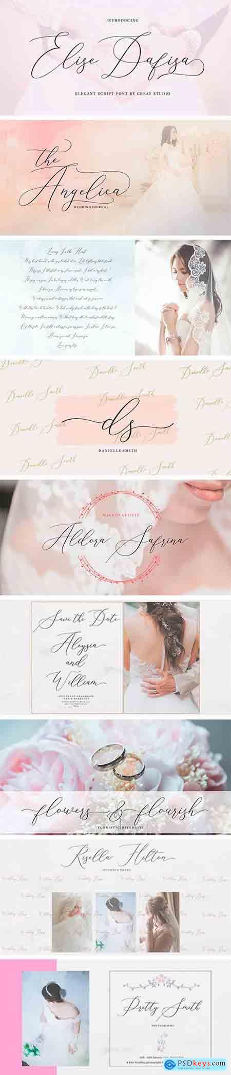 Elise Dafisa Script Font