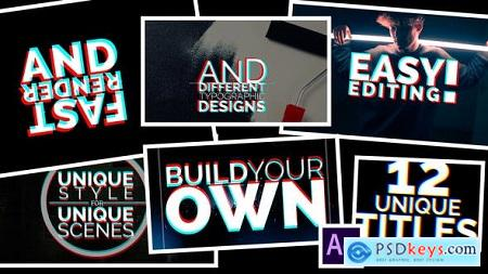 Videohive Title Animations Glitch Free