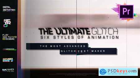 Videohive 70 Glitch Title Animation Presets Pack For Premiere Pro MOGRT Free