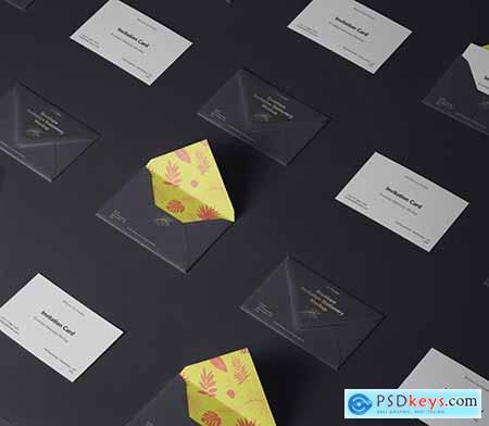 Invitation Psd Envelope Mockup