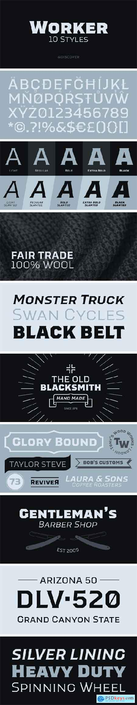 Worker Font Family