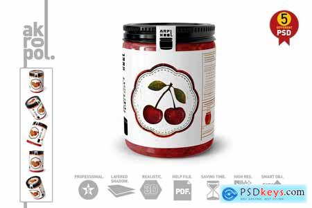 Creativemarket Jar Mock Up