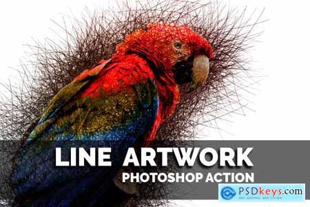 Creativemarket Line Artwork Photoshop action