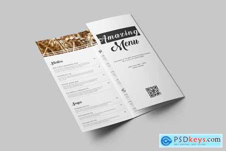 Thehungryjpeg TriFold Food Menu Brochure Template