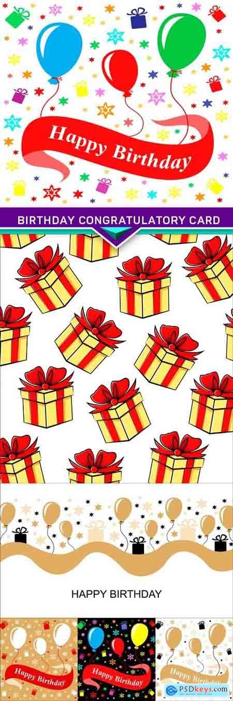 Birthday congratulatory card 6X EPS