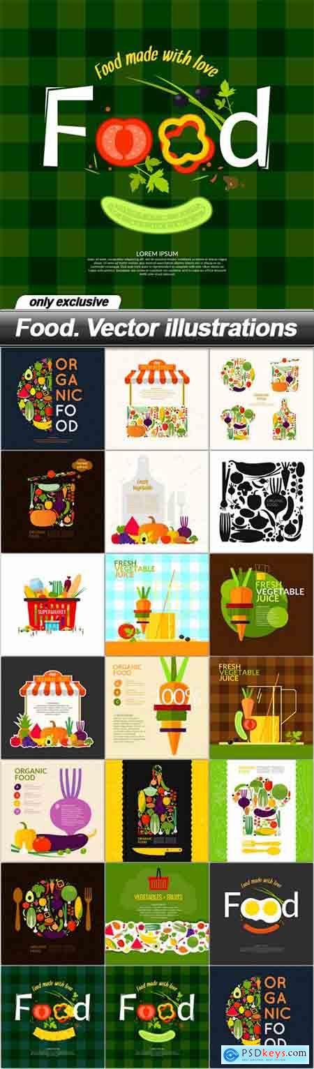 Food. Vector illustrations - 20 EPS