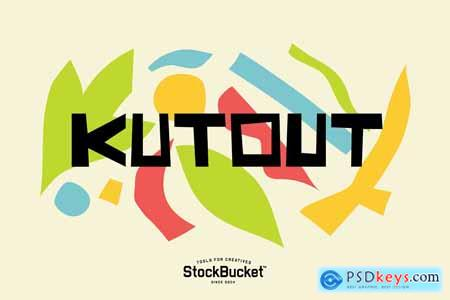 Creativemarket KutOut - A Fun Display Font