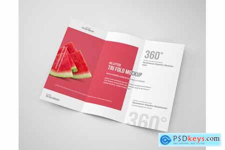 Thehungryjpeg TRI-FOLD BROCHURE MOCK-UP US LETTER