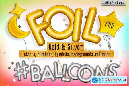 Thehungryjpeg Foil Balloons Overlays