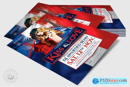 Thehungryjpeg French Party Flyer Template V1