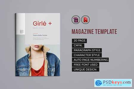 Creativemarket Indesign Magazine Template 7