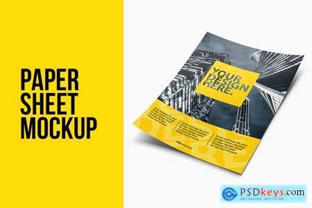Creativemarket Paper Sheet Flyer Leaflet Psd Mockup