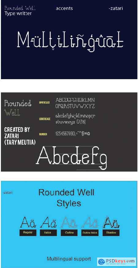 Rounded Well Font