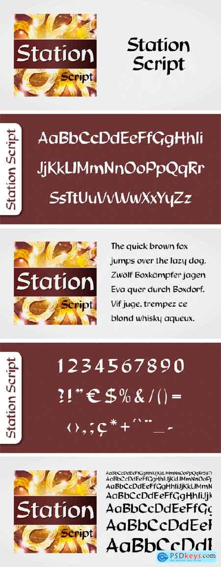 Station Script Font