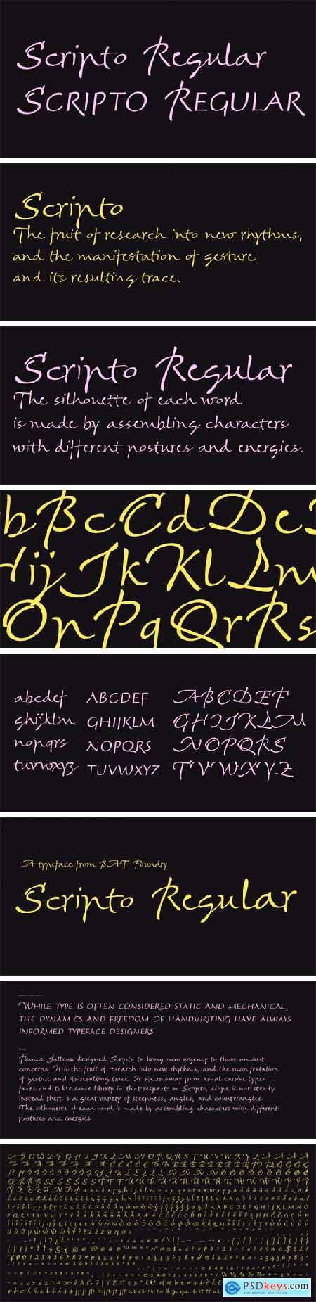 Scripto Font