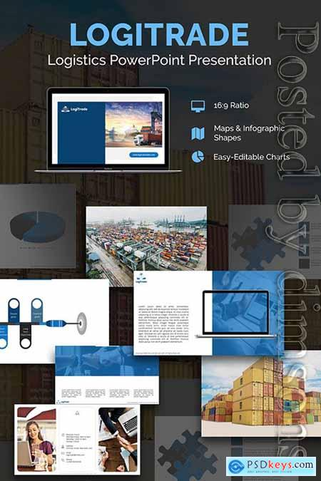 Logistics PPT Slides PowerPoint Template » Free Download