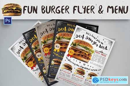 Fun Burger Flyer & Menu