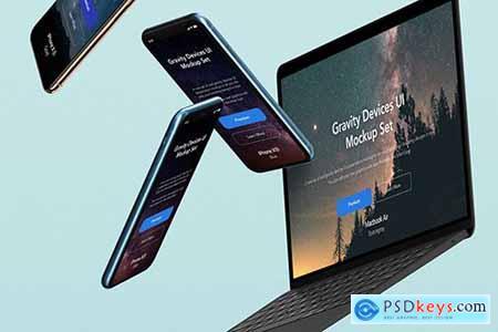 Gravity Psd Devices UI Mockup Set v5