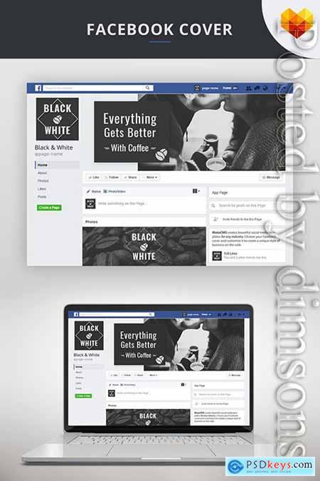 Facebook Cover Template For Coffee Shop Social Media
