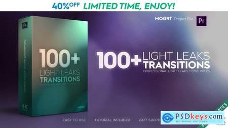 Videohive Light Leaks Transitions MOGRT Free