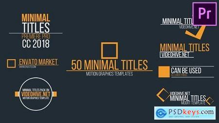 Videohive Minimal Titles Free
