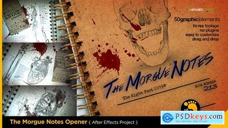 Videohive The Morgue Notes Opener Free