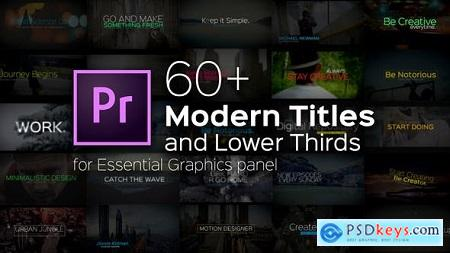 Videohive Modern Titles and Lower Thirds for Premiere Pro Free