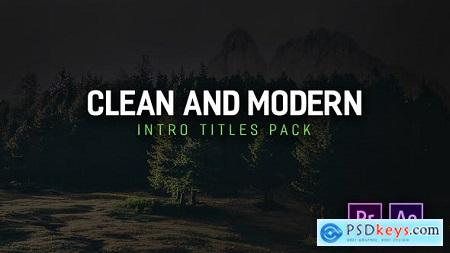 Videohive Modern Intro Titles Pack for Premiere Pro Free