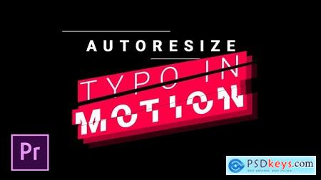 Videohive Titles and Lower Thirds - Autoresizing Typo in Motion Free
