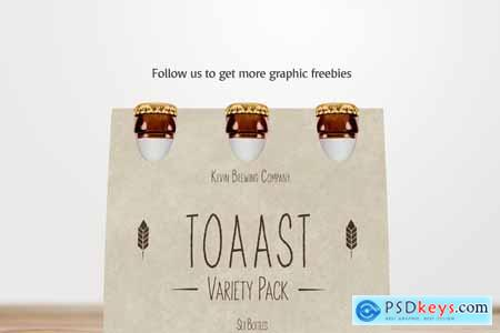 Creativemarket Beer Pack Mockup