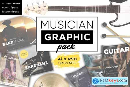 Creativemarket Musician Graphic pack