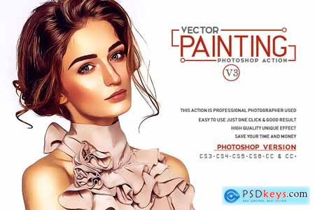 Thehungryjpeg Vector Painting Photoshop Action V3