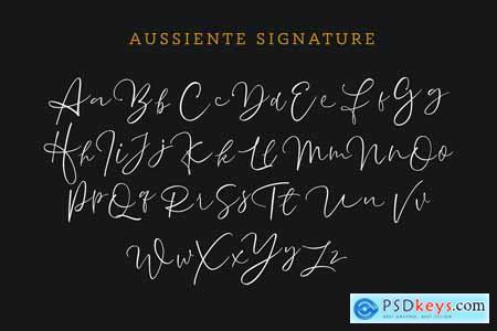 Creativemarket Aussiente Signature - Script