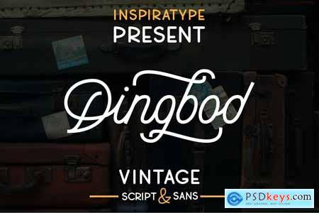 Creativemarket Dingbod - Sript and Sans