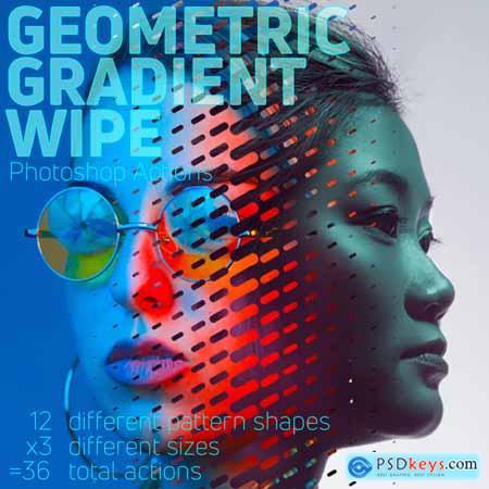 Graphicriver Geometric Gradient Wipe Actions
