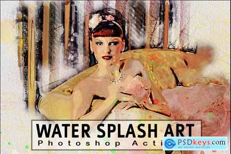 Creativemarket Water Splash Art Photoshop Action